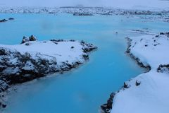 Blue Lagoon Bláa Lónið Iceland royalty free stock photography