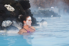 Geothermal spa Stock Images
