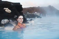 Geothermal spa Stock Photo