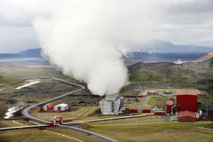 Geothermal station Stock Photo