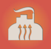 Geothermal symbol Royalty Free Stock Photography