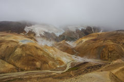 Geothermal Valley Kerlingarfjoll. In Iceland Royalty Free Stock Photography