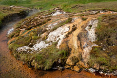 Geothermal valley near Hveragerdi, thermal springs, Iceland. Geothermal valley near Hveragerdi, thermal springs river, Iceland Stock Image