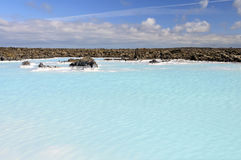 Geothermal water pool near Blue Lagoon spa Royalty Free Stock Images