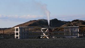 Geothermal well development stock video footage