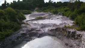 Hot Springs, Mud Pools and Geysers. Geothermal Park in Rotorua, North Island of New Zealand