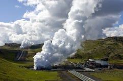 geothermical热工厂 免版税库存照片