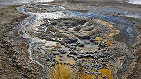 Geothermical cechy w G?rnym Starym Wiernym basenie zdjęcia stock