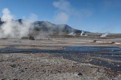 Geothermicfield El Tatio - чилеански Стоковые Изображения RF