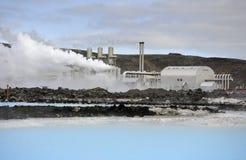 Geothermiekraftwerk Lizenzfreies Stockfoto