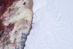 Geothermisch abstract landschap Stock Foto's