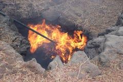 Geothermisch auf Lanzarote stockfoto