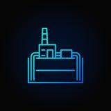 Geothermisch elektrische centrale blauw pictogram Royalty-vrije Stock Foto's