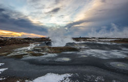 Geothermisch Gebied stock afbeelding