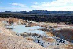 Geothermisch gebied Stock Afbeeldingen