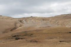 Geothermisch gebied in Hverir in IJsland Royalty-vrije Stock Afbeeldingen