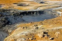 Geothermisch gebied, IJsland. Royalty-vrije Stock Afbeeldingen