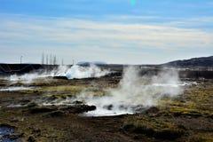 Geothermisch gebied in IJsland Stock Fotografie