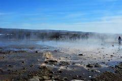 Geothermisch gebied in IJsland Stock Afbeelding