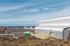 Geothermisch gebied van Gunnuhver, IJsland stock afbeelding