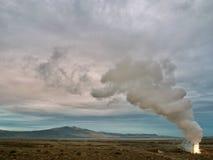 Geothermisch goed in Noordelijk Nevada stock afbeelding