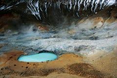Geothermisch landschap Stock Afbeeldingen