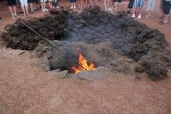 Geothermisch op Lanzarote Royalty-vrije Stock Foto's