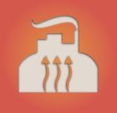 Geothermisch symbool Royalty-vrije Stock Fotografie