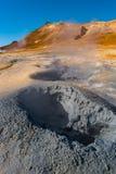 Geothermische actieve streken genoemd Hverir op IJsland Royalty-vrije Stock Foto