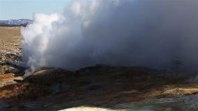 Geothermische Activiteit in IJsland stock video