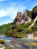 Geothermische Activiteit, Waimangu, Rotorua, Nieuw Zeeland Stock Afbeeldingen
