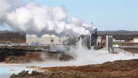 Geothermische Elektrische centrale stock video