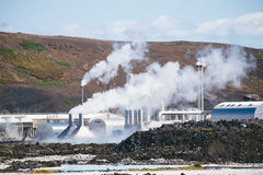 Geothermische elektrische centrale in IJsland Royalty-vrije Stock Foto