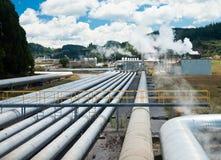 Geothermische krachtcentrale Stock Afbeeldingen
