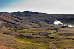 Geothermische krachtcentrale Royalty-vrije Stock Fotografie