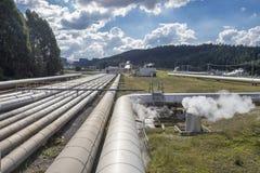 Geothermische Krachtcentrale Stock Foto's