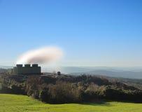 Geothermische krachtcentrale voor duurzame energie. Royalty-vrije Stock Foto