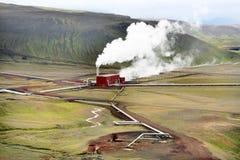 Geothermische post Royalty-vrije Stock Fotografie