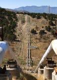 Geothermische Rohre Stockbild
