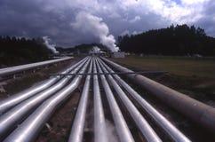 Geothermische Triebwerkanlage NZ Lizenzfreie Stockfotografie
