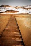 Geothermischer aktiver vulkanischer Bereich Namaskard in Nordwest-Icelan Stockbild