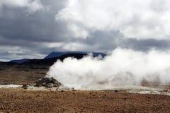 Geothermischer Bereich Stockfotografie