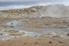 Geothermischer Bereich bei Hverir in Island Stockbild