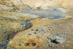 Geothermischer Bereich Seltun Lizenzfreie Stockfotos