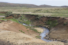 Geothermischer Bereich Seltun in Reykjanes Lizenzfreie Stockbilder