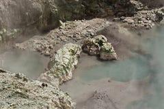 Geothermischer dämpfender Bereich Stockfoto