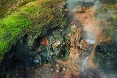 Geothermischer Frühling Deildartunguhver Stockfotos