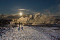 Geothermischer Rauch Stockfoto