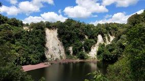 Geothermischer See an vulkanischem Tal Waimangu Stockfoto