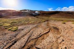 Geothermisches Feld Stockfotos